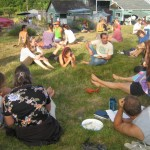 Retreat guests enjoy summer days at the Centre