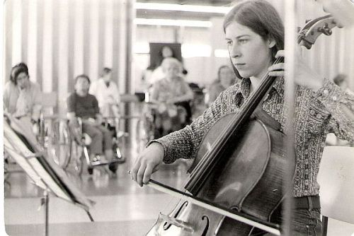 "Mayana playing for a Vancouver ""Music in the Hospitals"" tour - 1974"