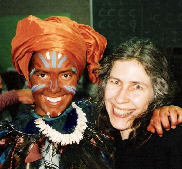 Backstage with Guha at a Ramayana performance - 1995