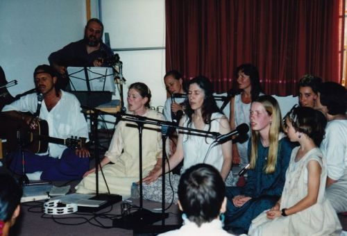 Singing for Bhakti Night – mid 1990s