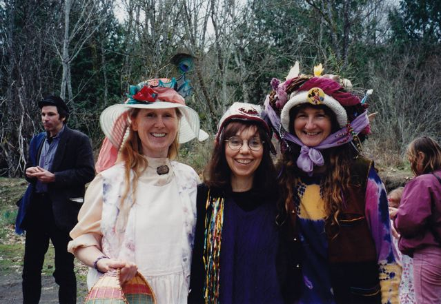 Easter hats - Anuradha, Sharada, Rajani - 1997