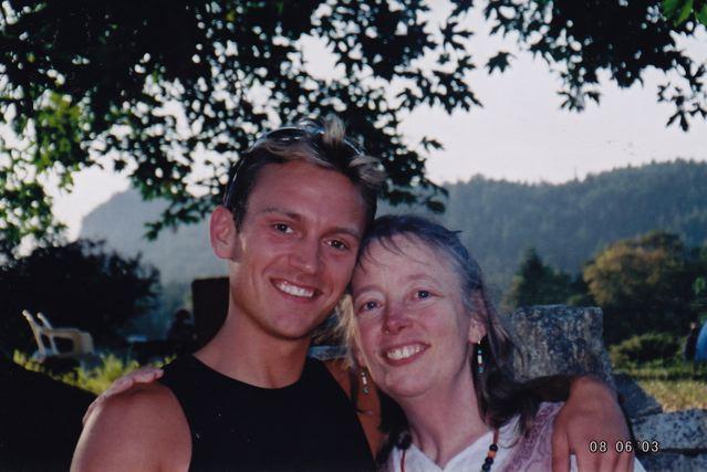 With Usha, 2003