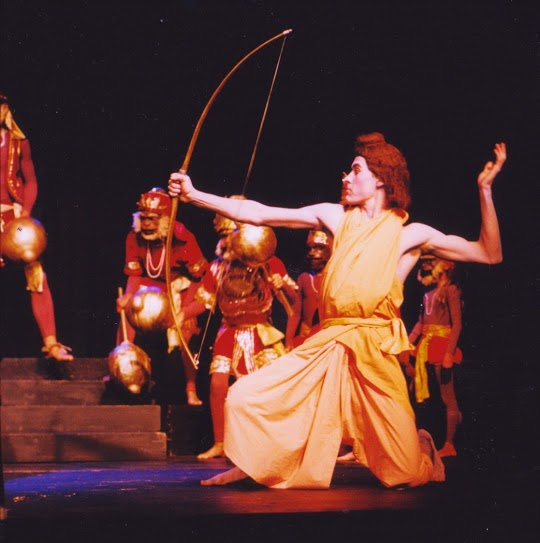 Piet as Rama, Ramayana dress rehearsal (so no makeup), 1999