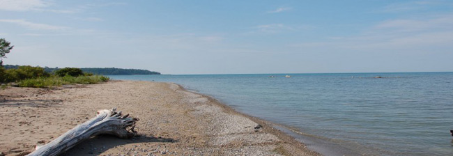 The beach on Lake Huron.
