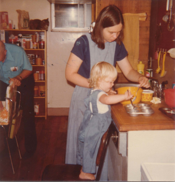 Cooking with my mother, 1976