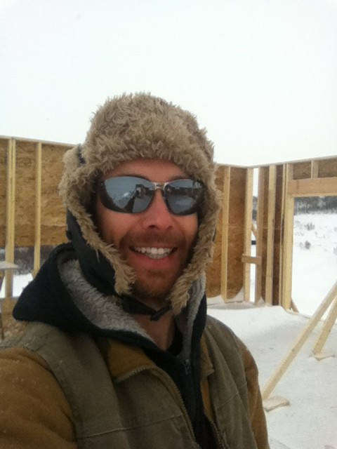 Building houses in Saskatchewan. 2011