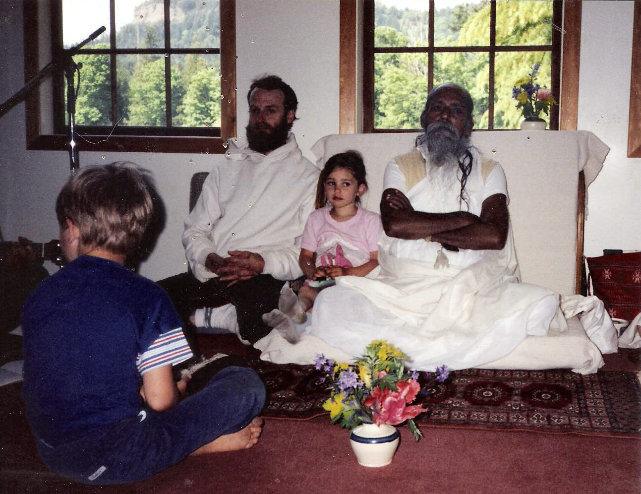 Sitting with Babaji at the Easter Retreat, 1990