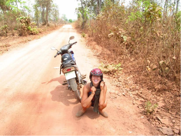 Saoirse and I getting lost in Ratanakiri Province, Cambodia, 2011