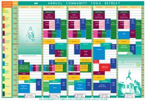 ACYR Schedule