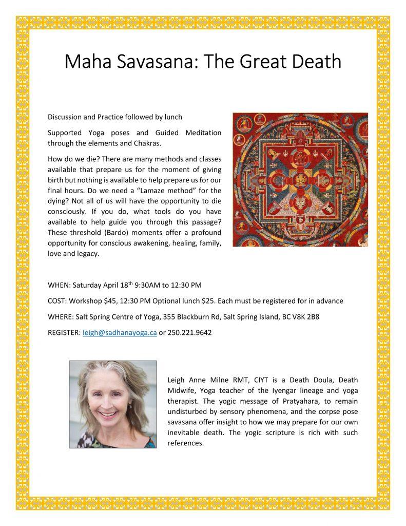 Leigh Anne Milne - Maha Savasana