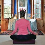 Home Yoga Retreat at altar